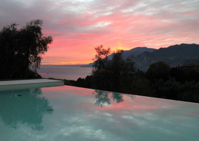Grandview Guest House infinity pool sunset